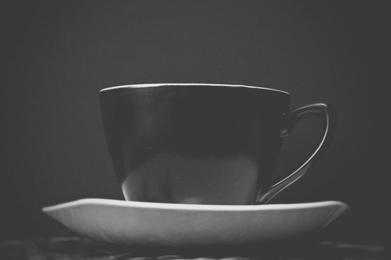tea black and white