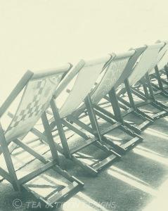 black & white deckchairs